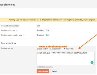 Add Ads.Txt File To Blogger Blogs