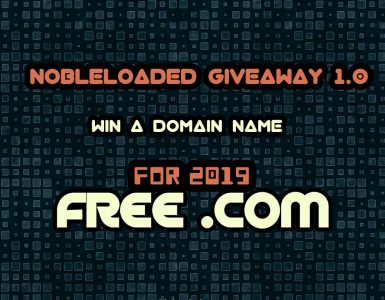Nobleloaded Giveaway 1.0 – Win a Domain Name For 2019